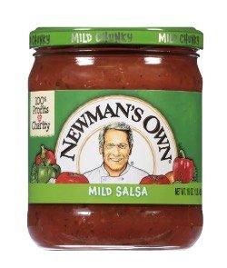 jar of newman's own salsa.