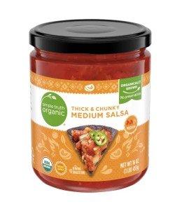 jar of simple truth salsa.